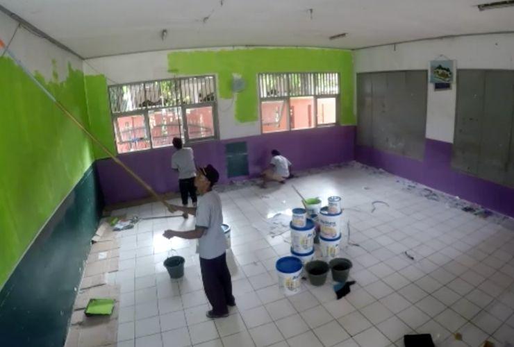 Kombinasi Warna Cat Gedung  avian brands warna warni sekolah bersama avitex cat tembok