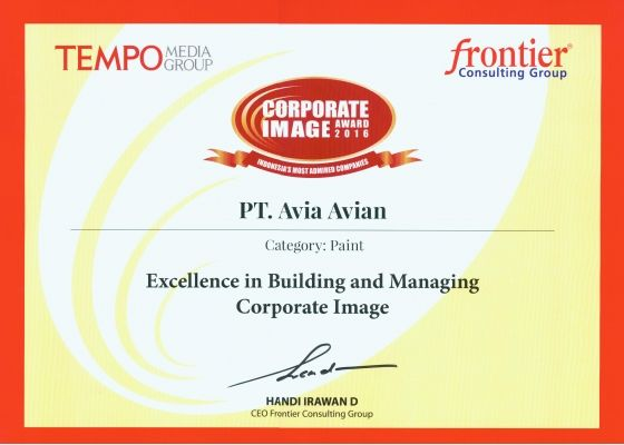 Corporate Image Award 2016