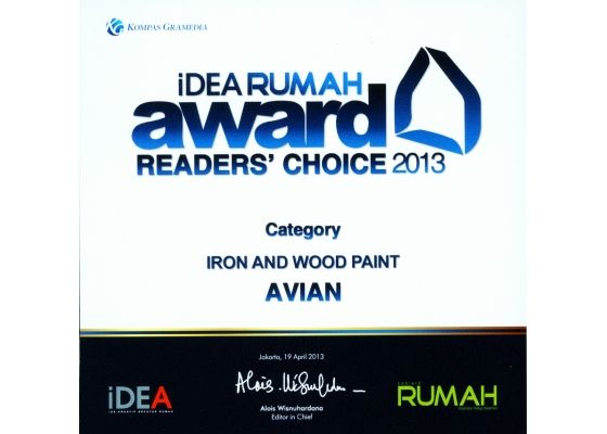 idea rumah awards avian 2013