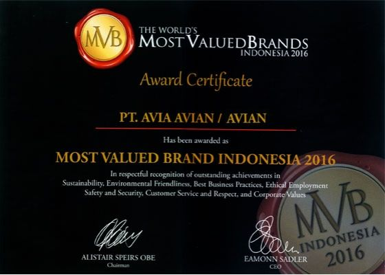 most valued brands avian 2016