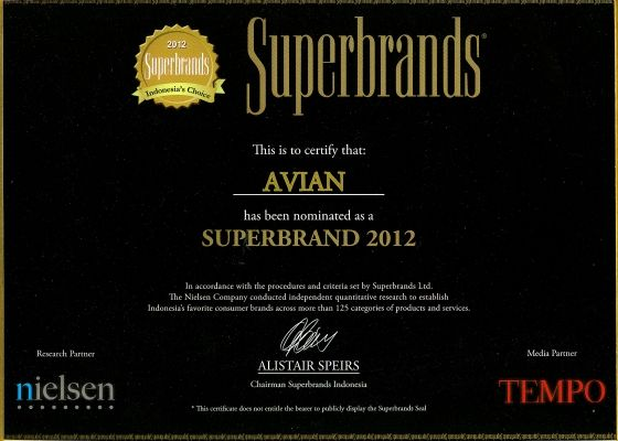 superbrands avian 2012