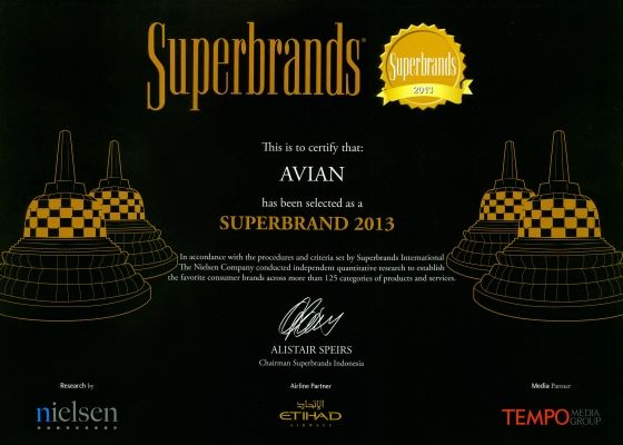 superbrands avian 2013