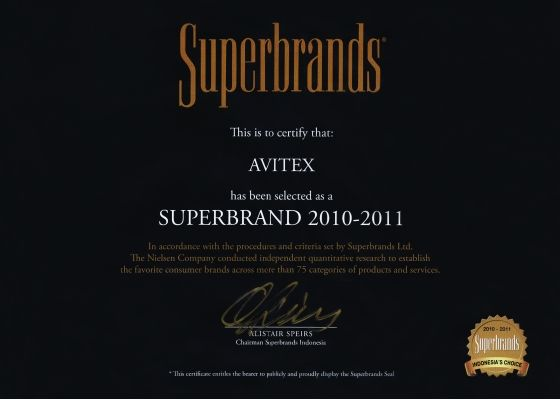 superbrands award avitex 2010-2011