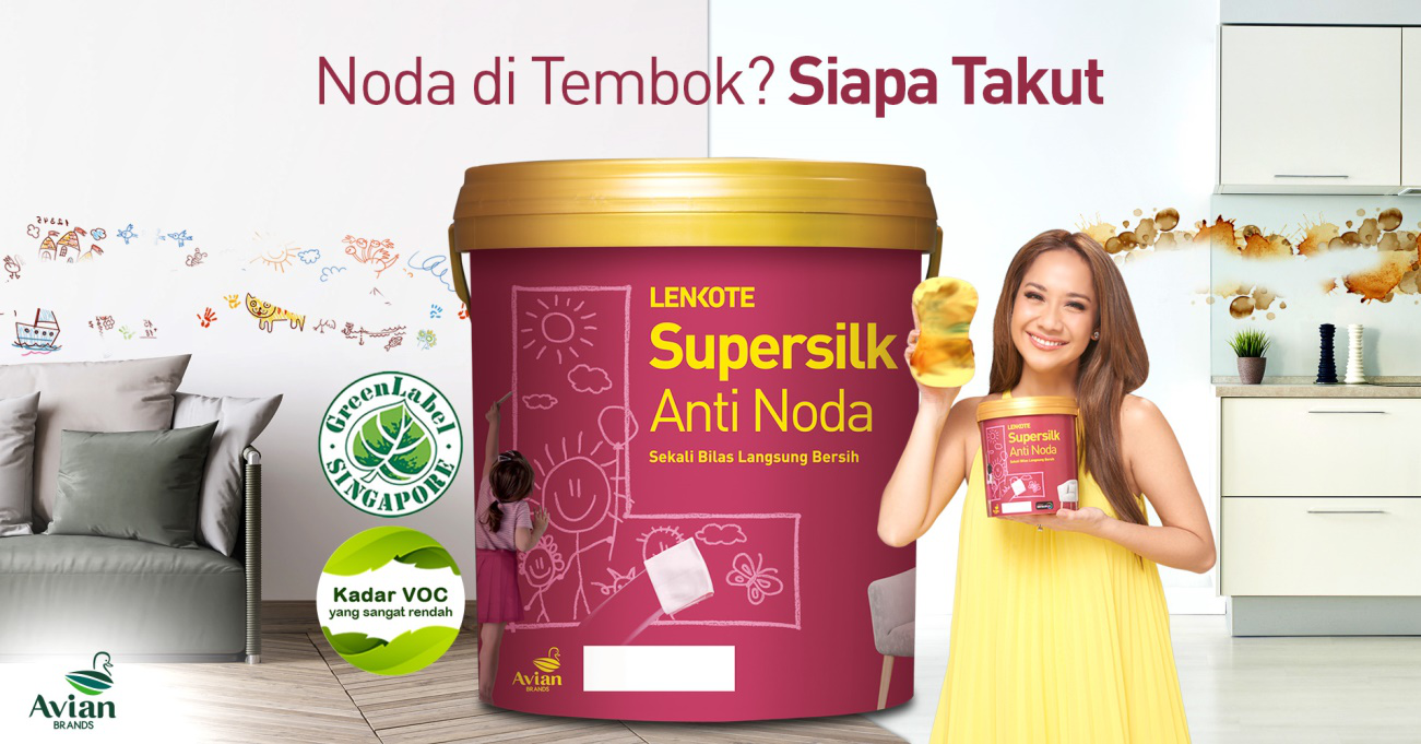 pilih supersilk anti noda, cat rendah VOC