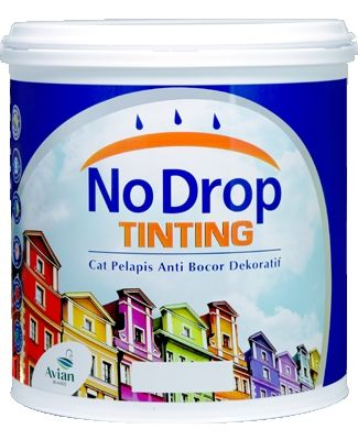 No Drop Tinting: Cat Pelapis Anti Bocor Berwarna Cerah